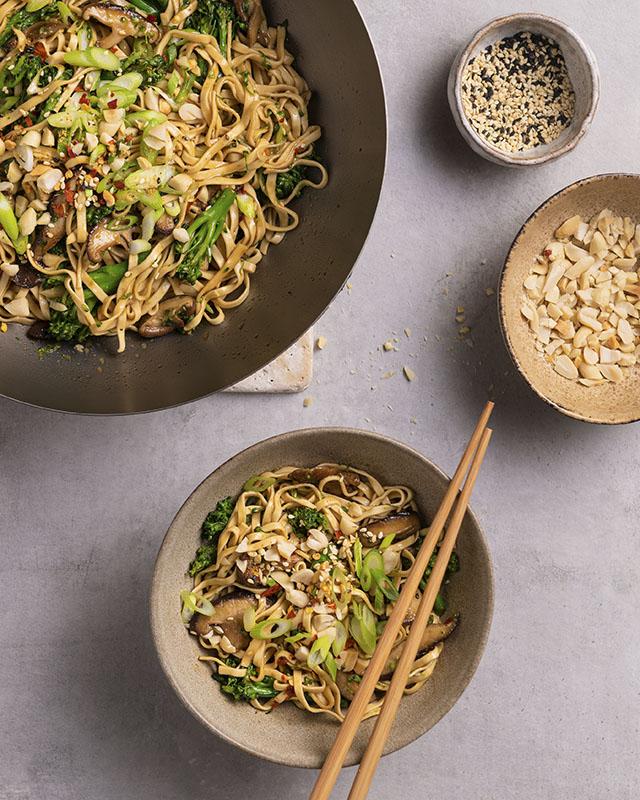 Mushroom and Broccoli Stir Fry