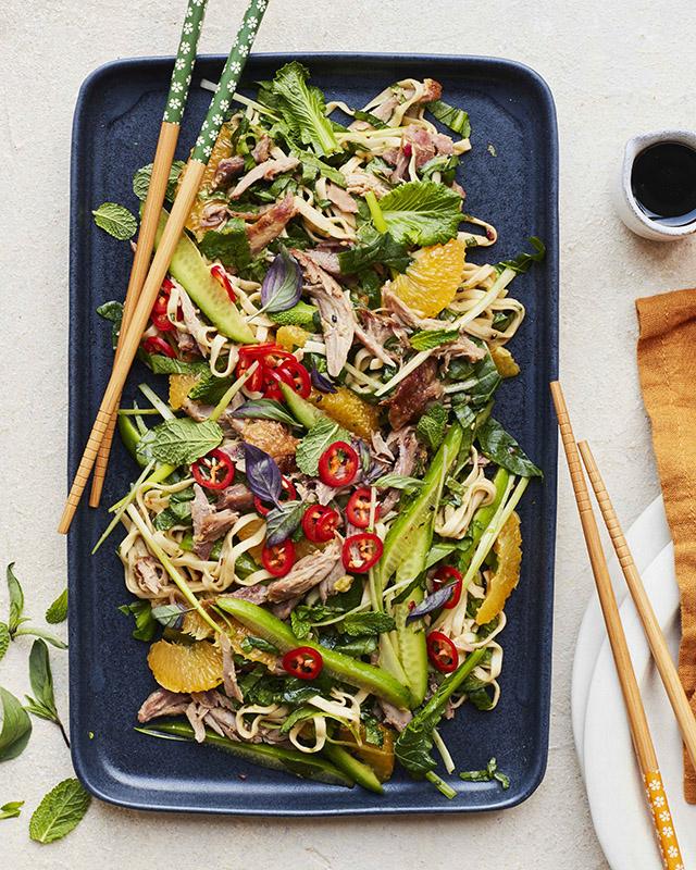 Duck & Orange Sesame Noodle Salad